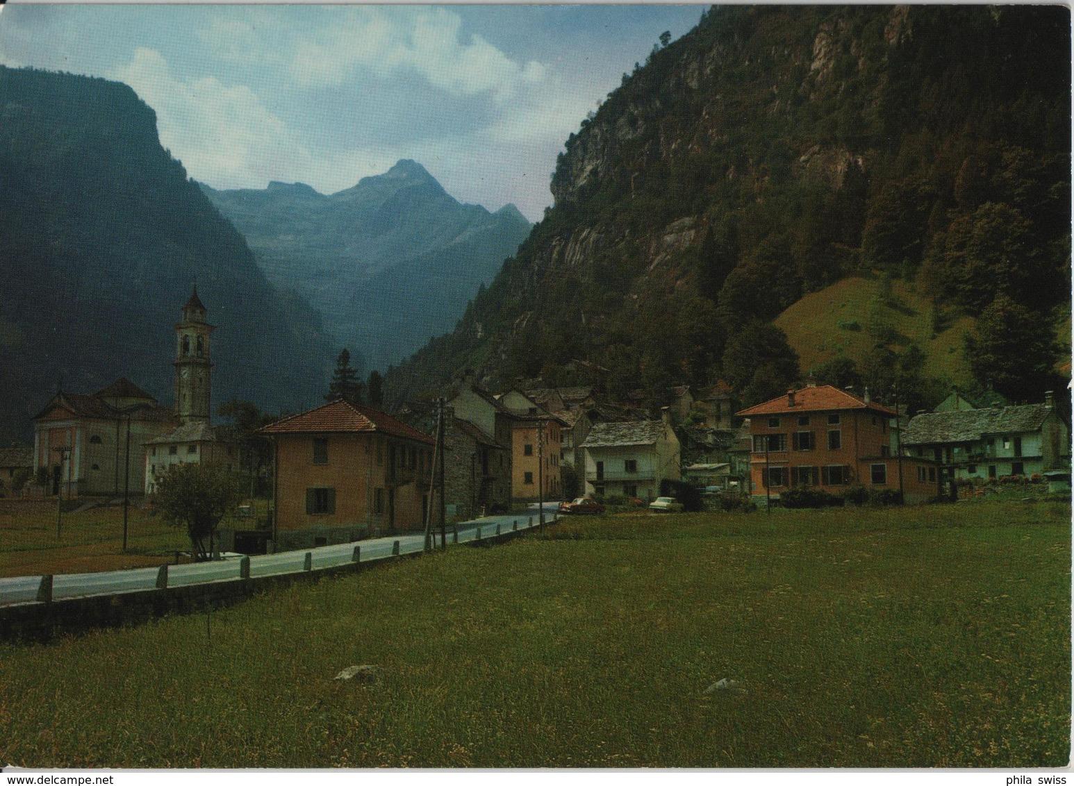 Sonogno - Valle Verzasca - Dorfeingang - TI Tessin