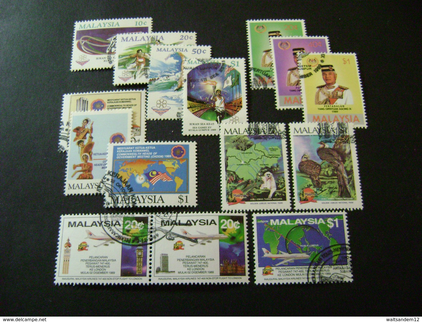 Malaysia 1986-1989 Complete Stamp Issues (SG 331-431) 4 Images - Used - Maleisië (1964-...)
