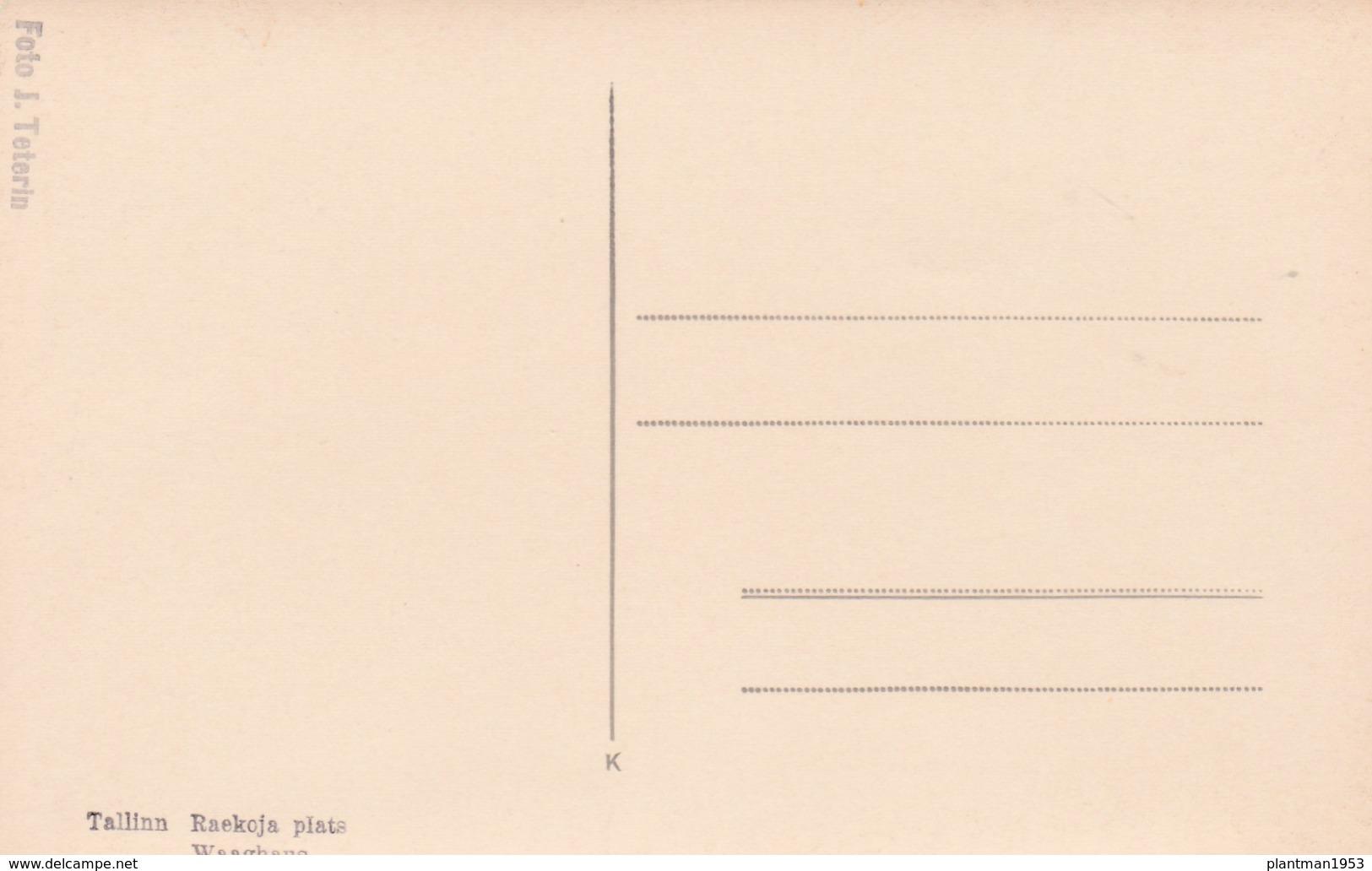 Old Post Card Of Raekoja Plats, Harjumaa, Estonia ?.,R81. - Neunkirchen