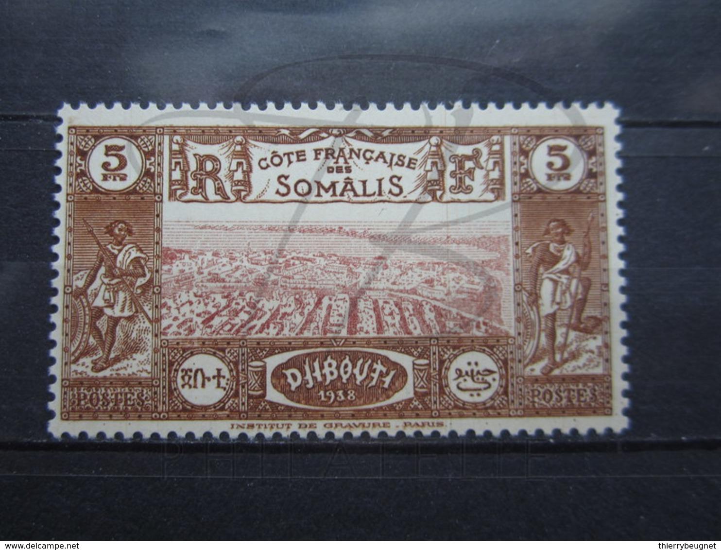 VEND BEAU TIMBRE DE LA COTE FRANCAISE DES SOMALIS N° 167 , XX !!! - Neufs