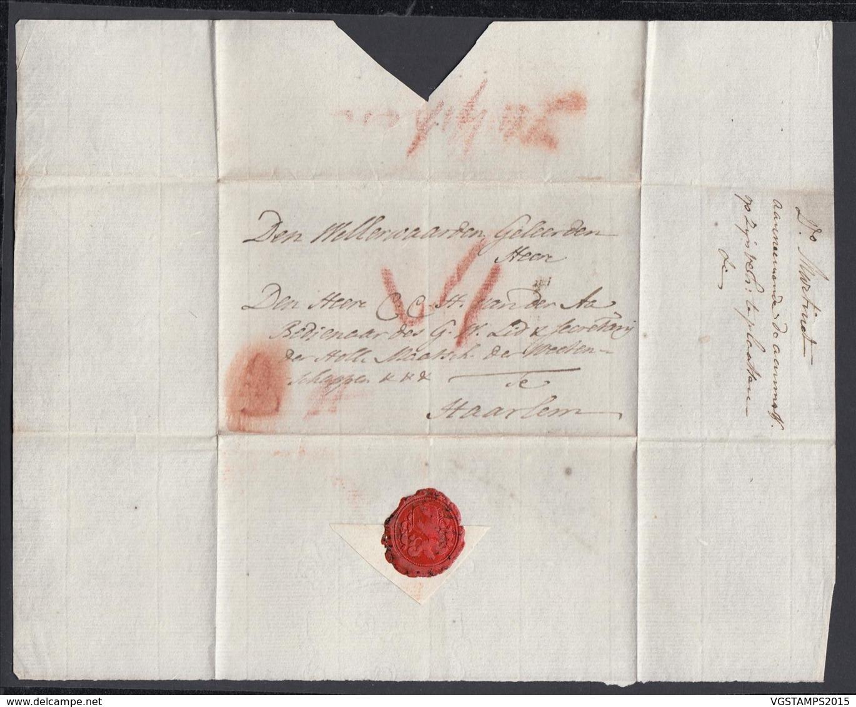 "Pays-Bas 1792 - Précurseur "" Zutphen ""vers Haarlem -Marque A La Craie (6G24546) DC0884 - ...-1852 Voorlopers"