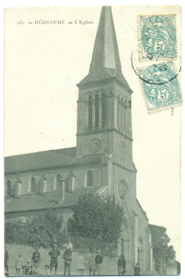 HÉRICOURT 432 L'Église. Animation. - Francia