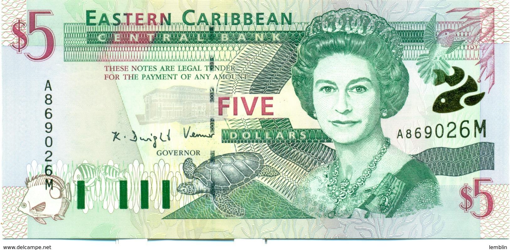 5 DOLLARS 2000 MONTSERRAT - Caraïbes Orientales