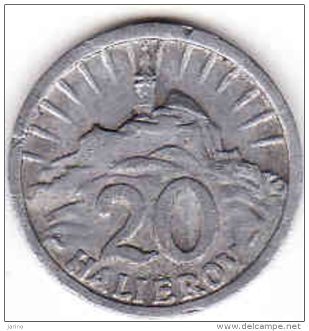 Slovaquie 20 Halierov 1942 Aluminium - Slovaquie