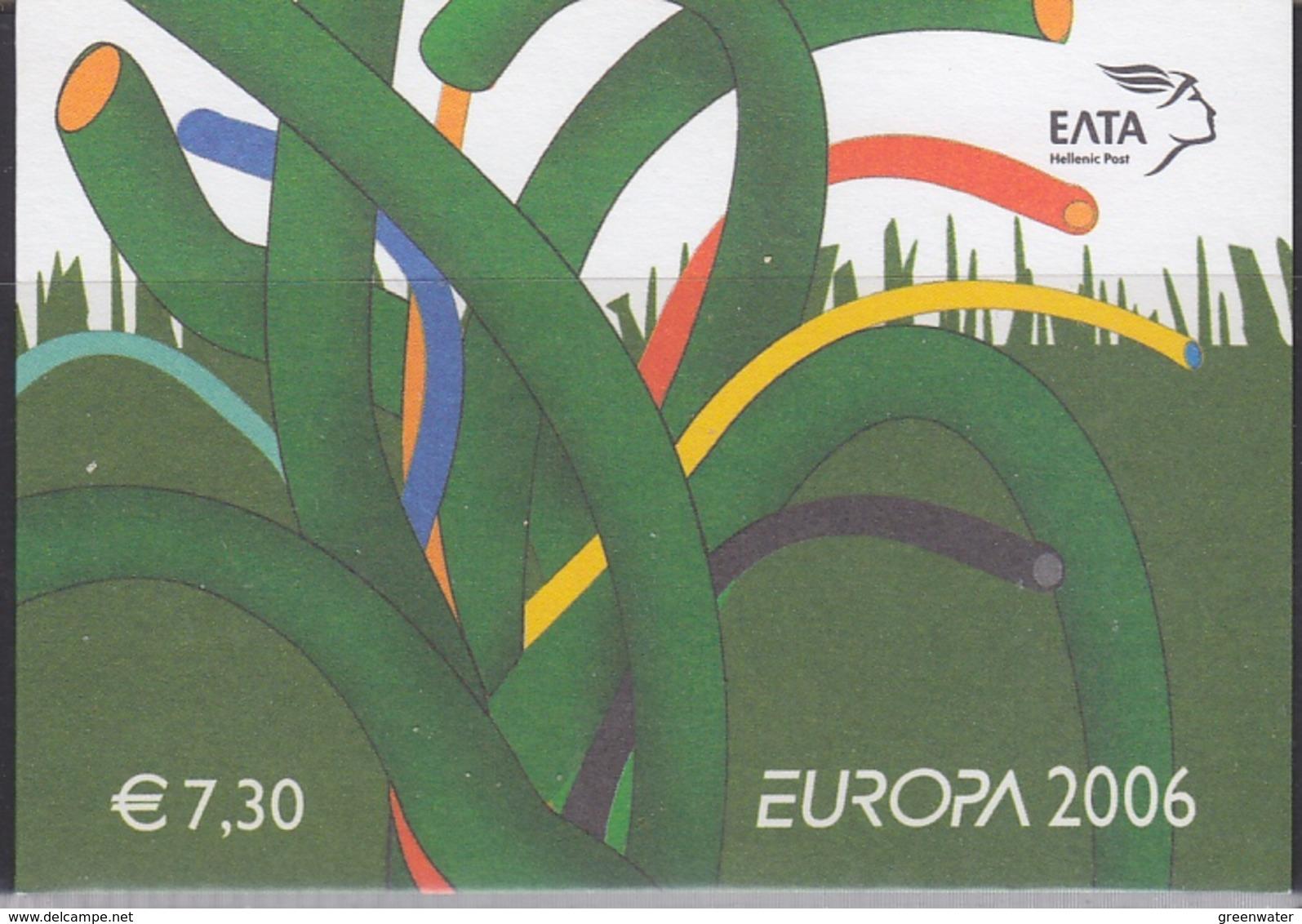 Europa Cept 2006 Greece Booklet ** Mnh (41393) @ Face Value - 2006
