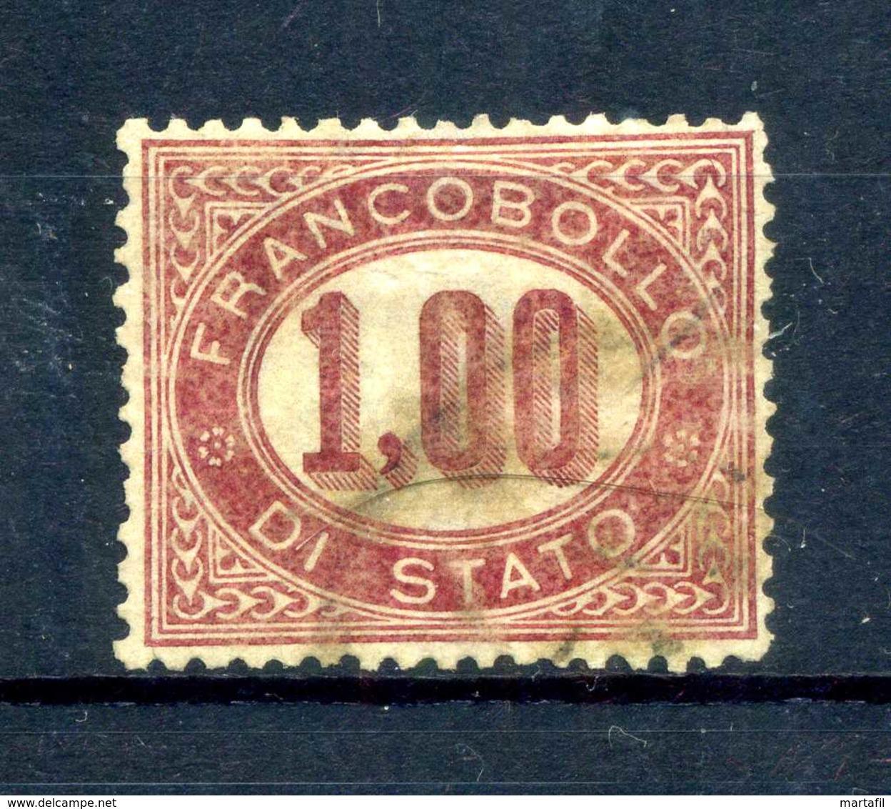 1875 REGNO SERVIZIO N.5 USATO - Servizi