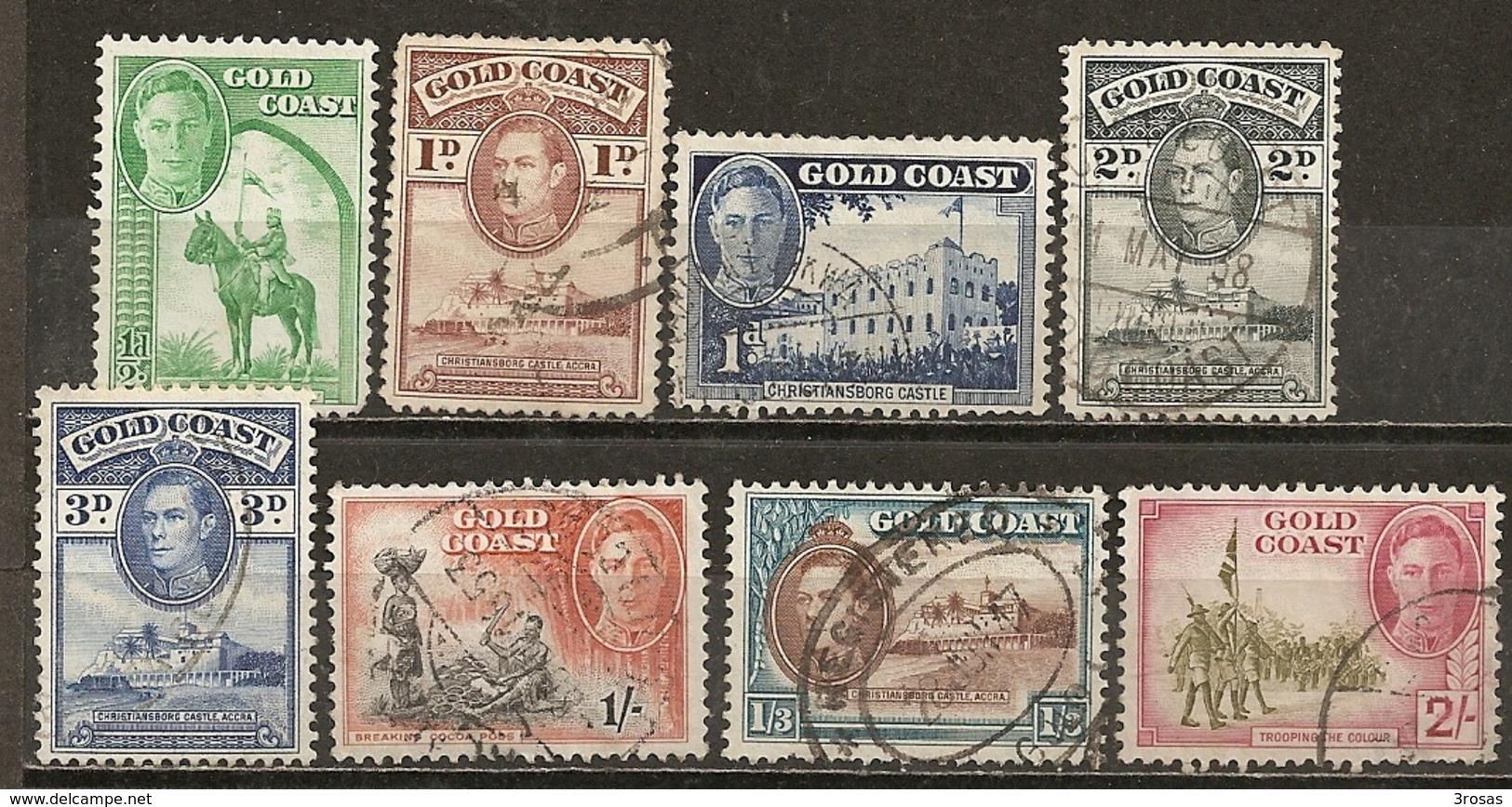 Cote D'Or Gold Coast 1938/48 Vues Views Obl - Côte D'Or (...-1957)