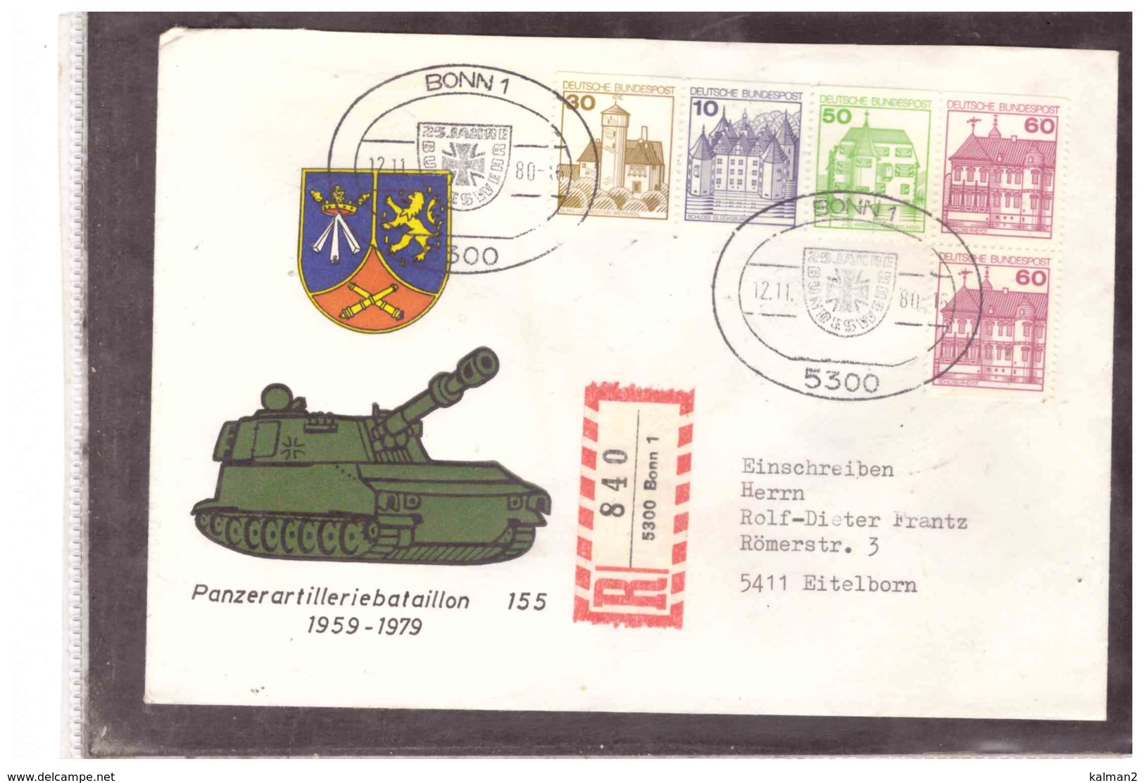 DE2255   -   BONN  12.11.1980      /     25 JAHRE BUNDESWEHR - Militaria