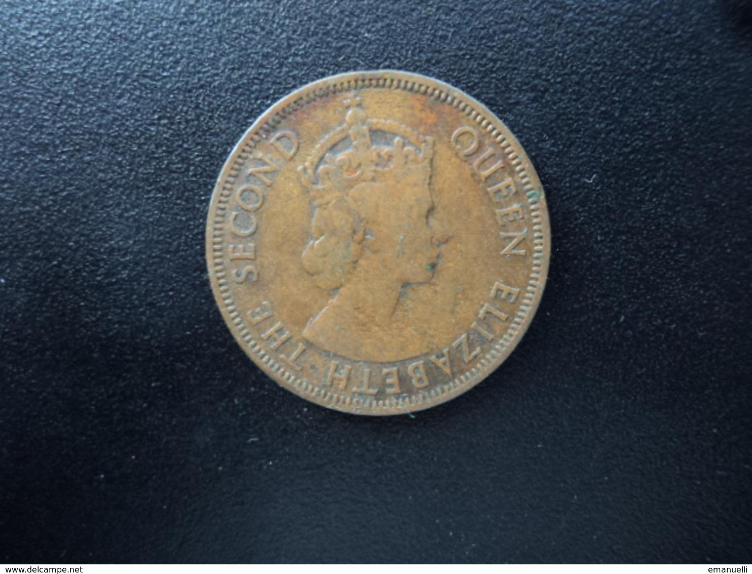 CARAÏBES ORIENTALES : 1 CENT   1957   KM 2    TTB - Caraïbes Orientales (Etats Des)