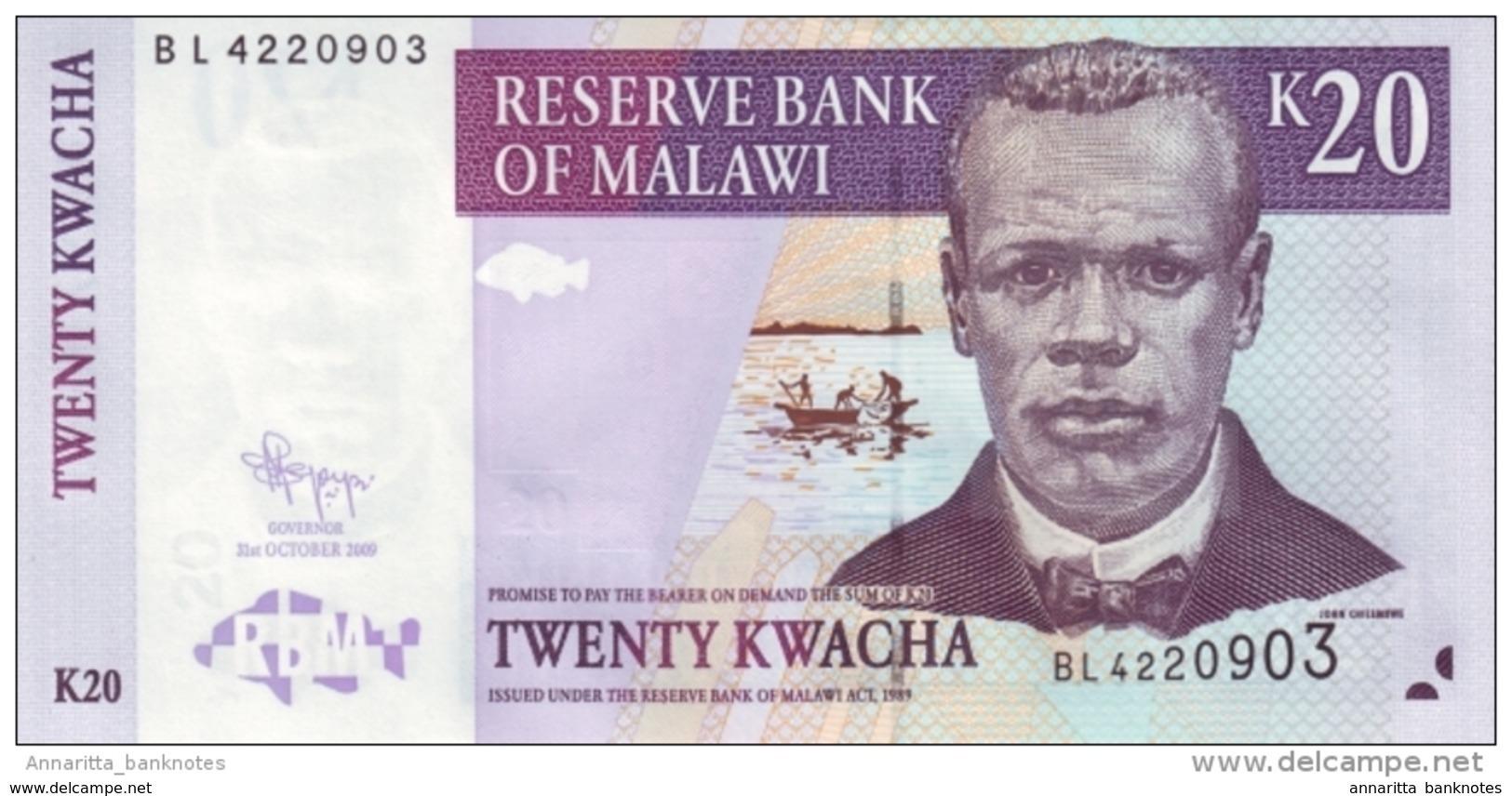 MALAWI 20 KWACHA 2009 P-52e UNC [MW143f] - Malawi