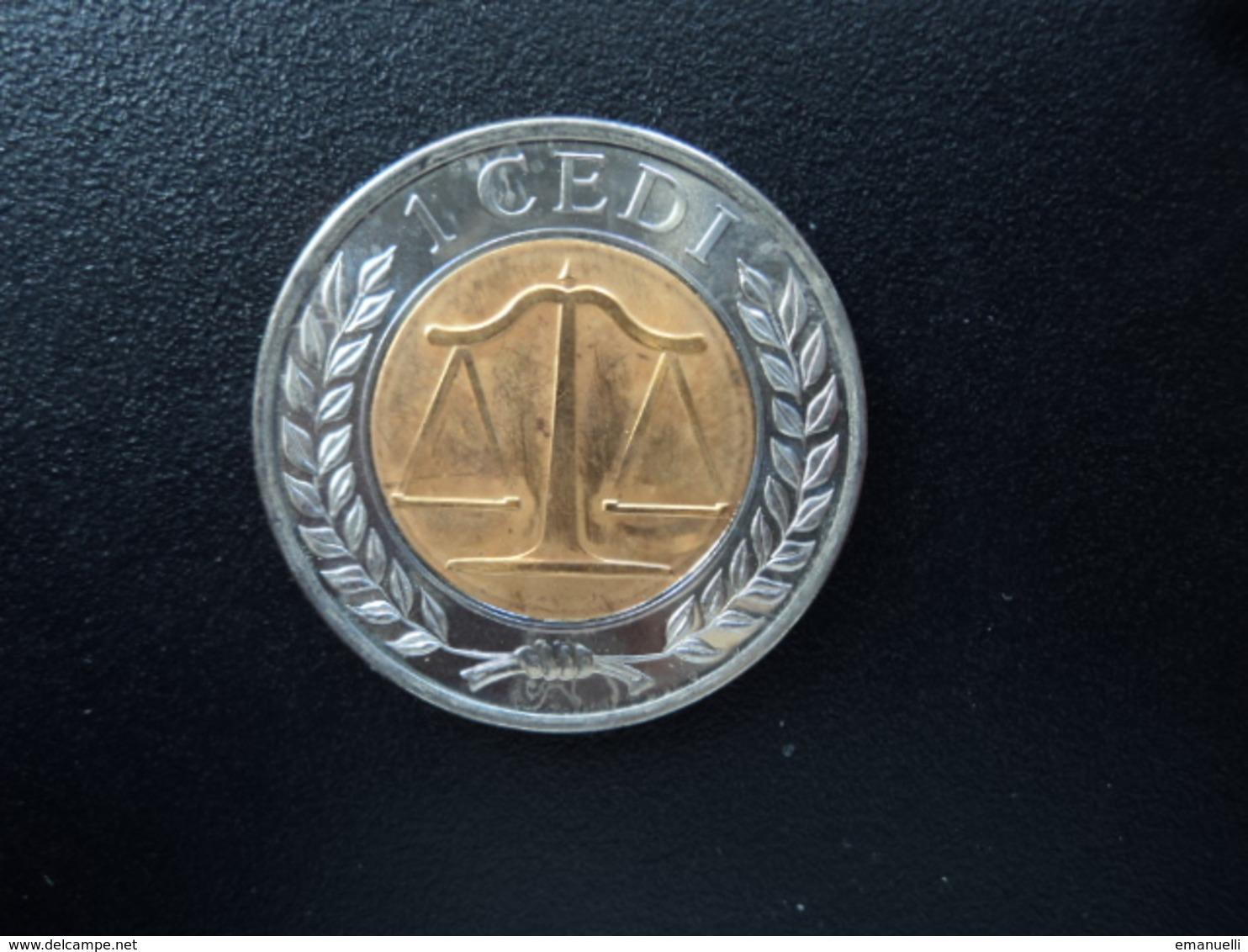 GHANA : 1 CEDI   2007   KM 42    NON CIRCULÉ * - Ghana