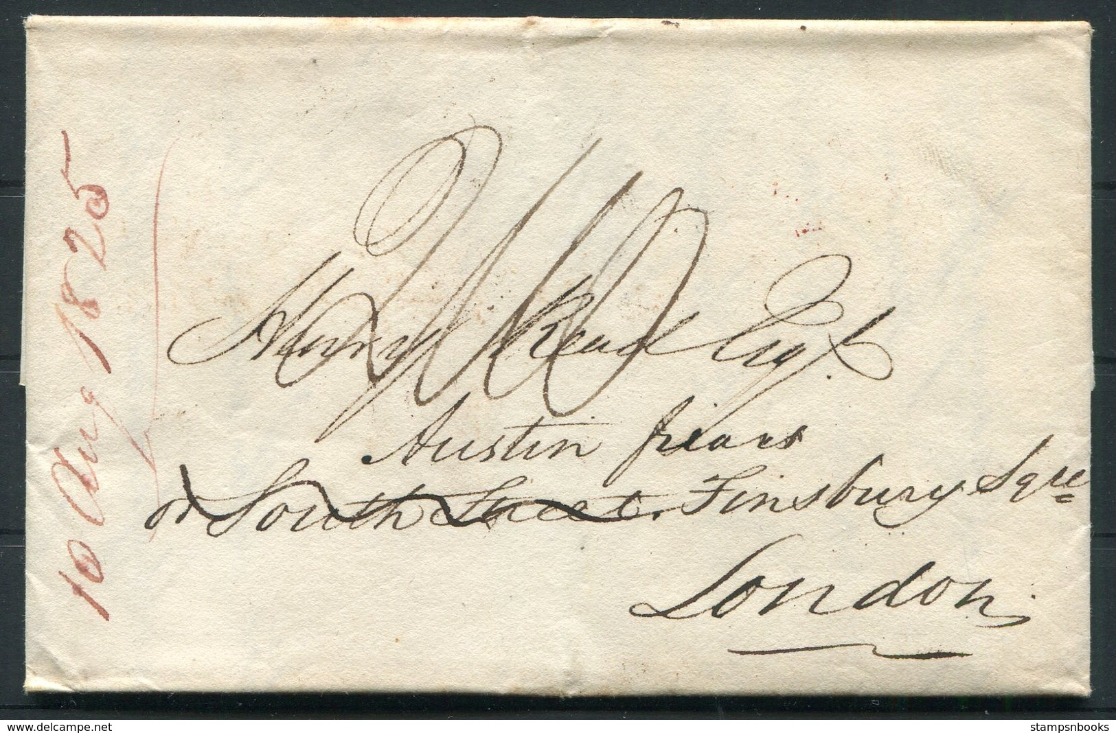 1825 Canton China - London Entire + Letter. Lymington Ship Letter. - ...-1840 Prephilately