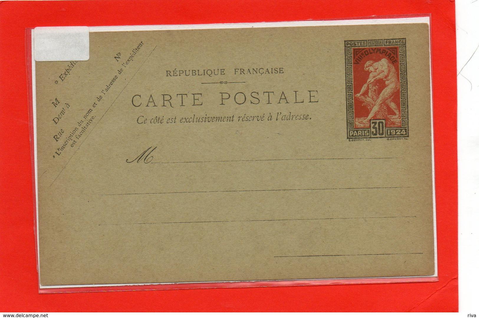 Entier Postal N° 185 ( Jeux Olympiques De PARIS 1924 Luxe *** - Timbres