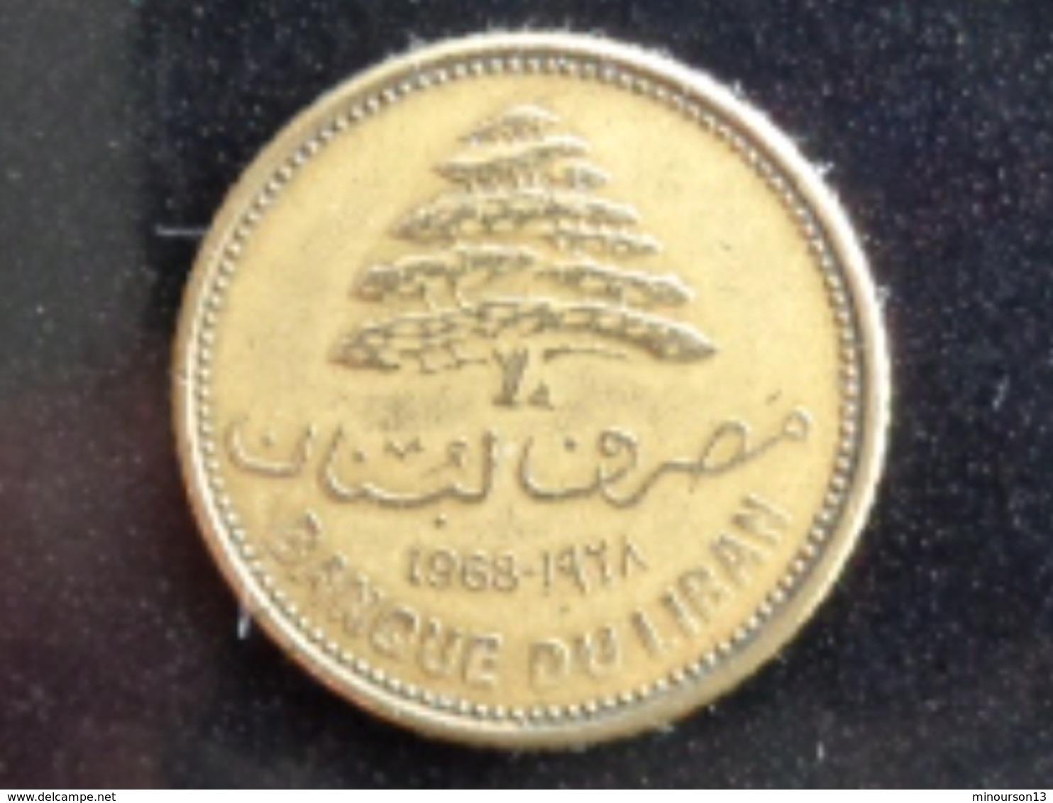 LIBAN TRES TRES BELLE 5 PIASTRES 1968 - Liban