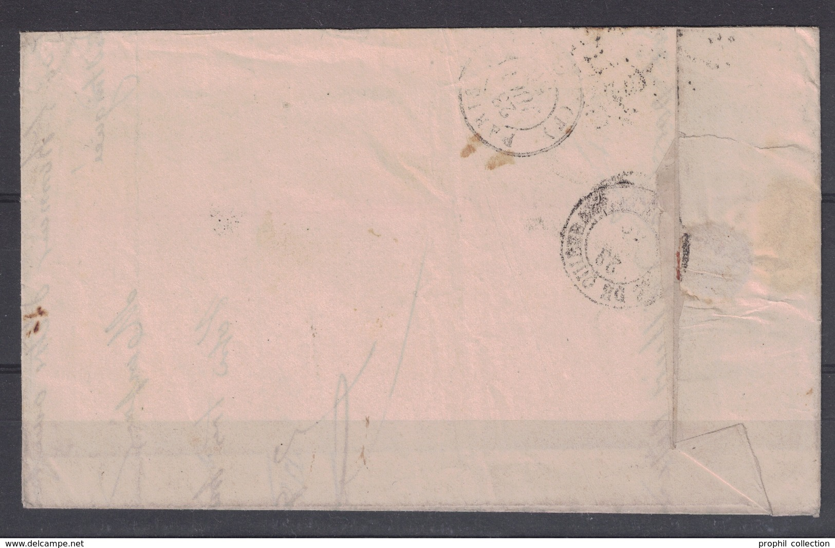 1850 - CERES N° 3 (TB) OBLITÉRÉ GRILLE Sur LETTRE LAC CAD AMIENS Pour PARIS - 1849-1850 Ceres