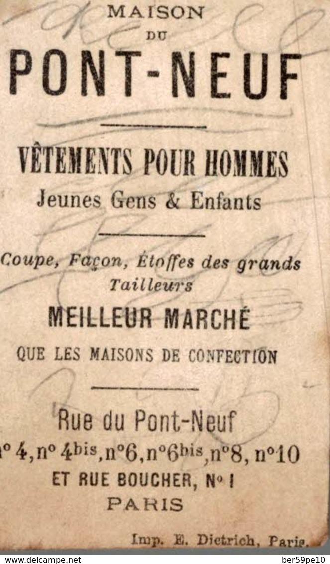 CHROMO  MAISON DE PONT-NEUF VETEMENTS POUR HOMMES PARIS  MON COEUR ME GUIDERA - Cromo