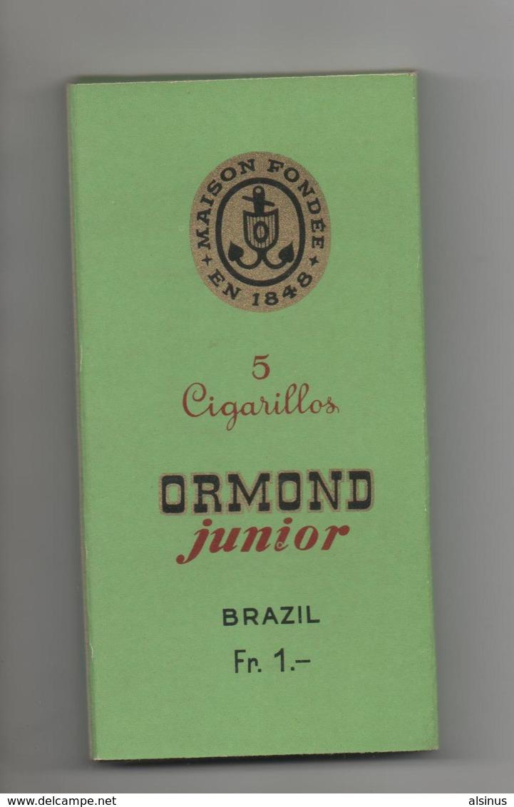 ETUI VIDE DE 5 CIGARES  - ORMOND JUNIOR - BRAZIL - Zigarrenetuis