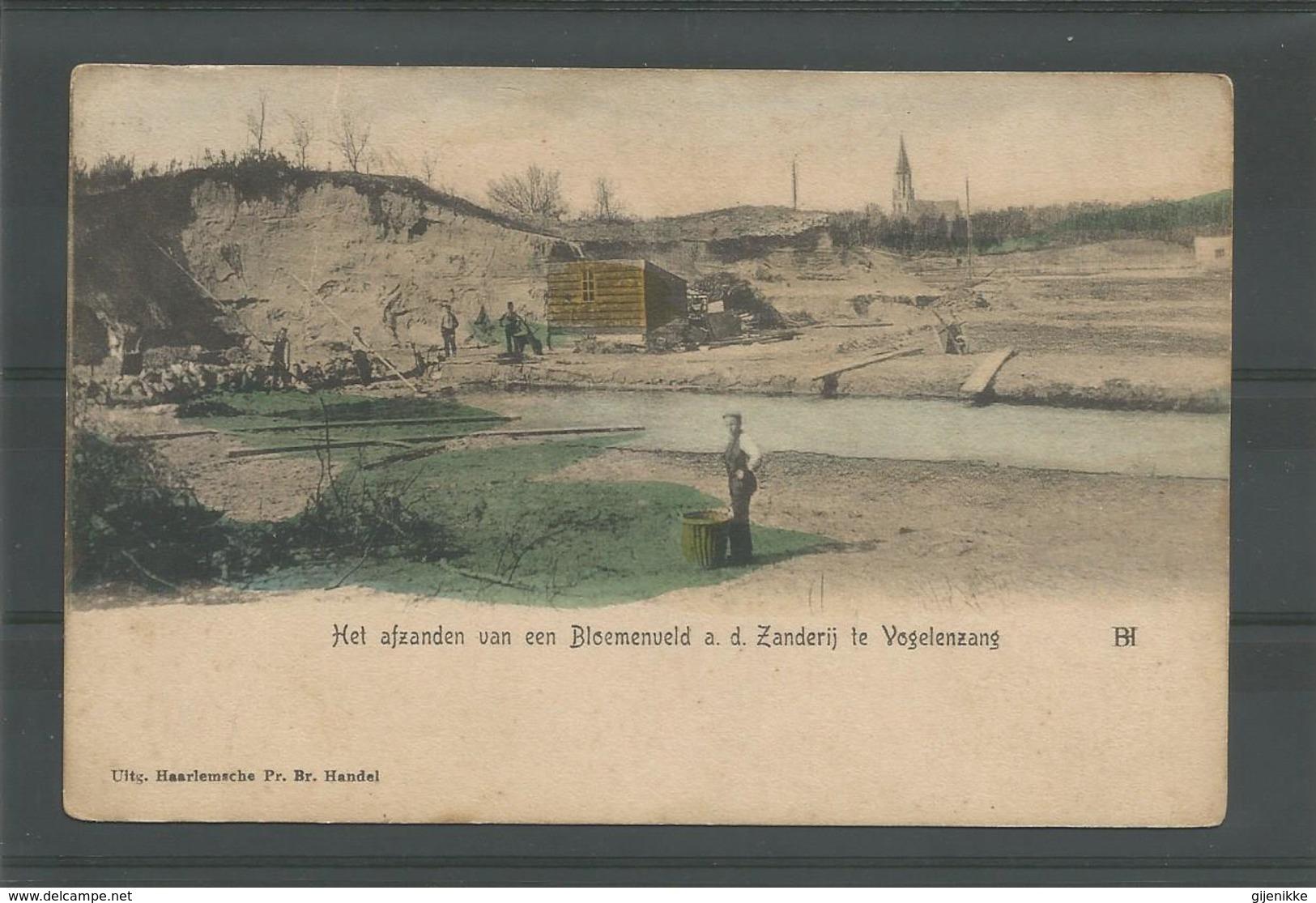Oude Briefkaart. Het Afzanden Vab Een Bloemenveld A D Zanderij Te Vogelenzang - Haarlem