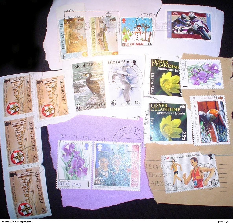 BID Isle Of Man KILOWARE Stampbag 1 KG (2LB-3oz) Commen. Stamp Mexture IOM - Timbres