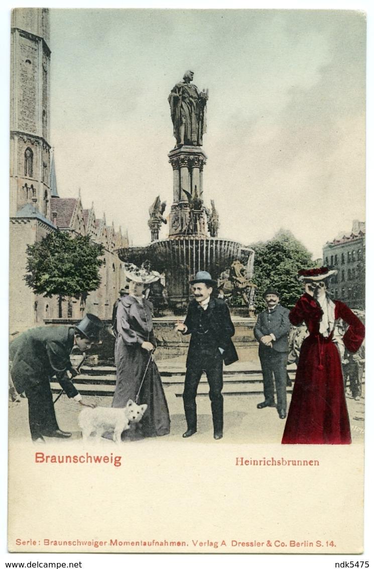 COMIC PHOTO MONTAGE : ALLEMAGNE - BRAUNSCHWEIG - HEINRICHSBRUNNEN - Braunschweig