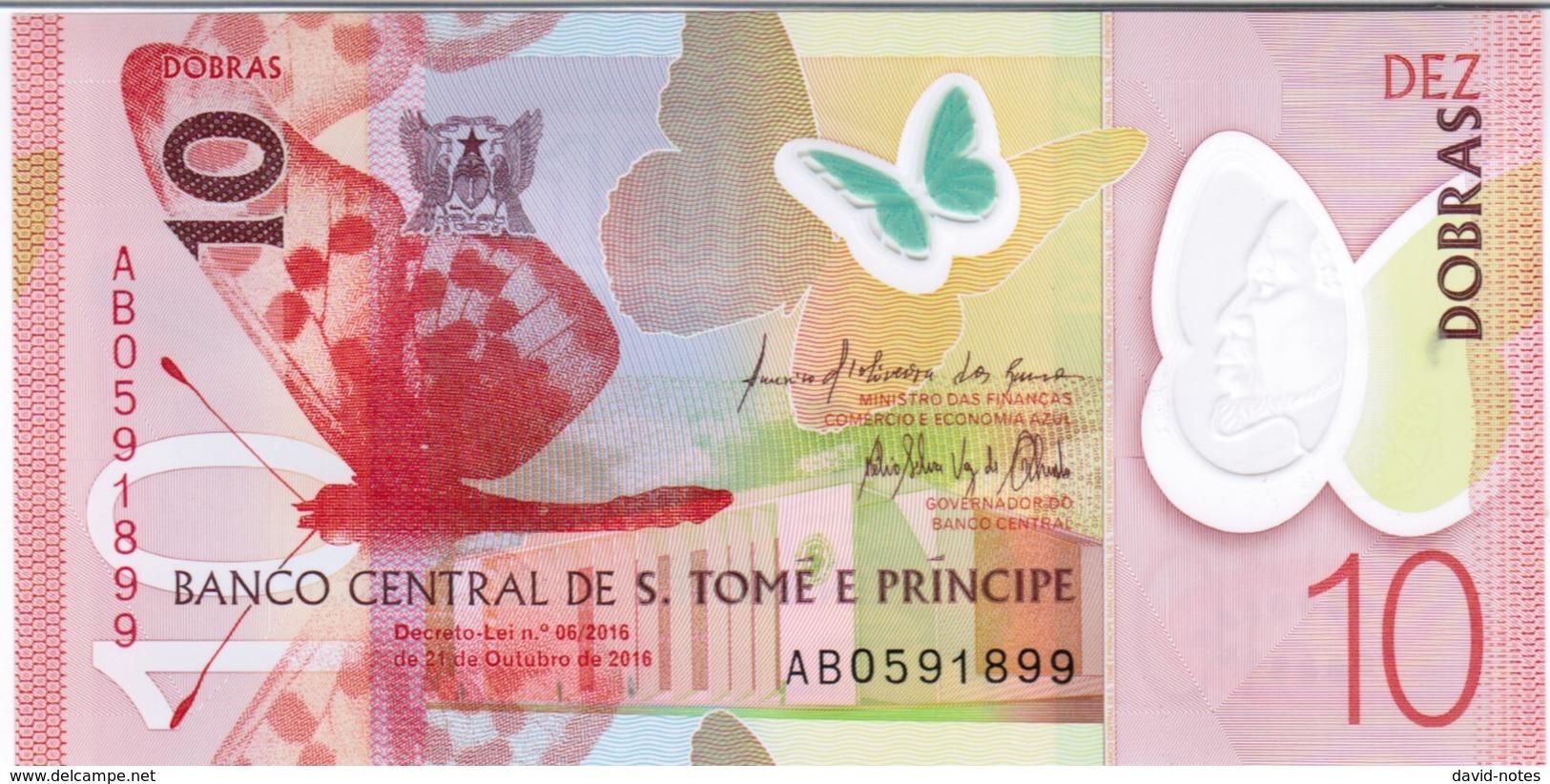 Saint Thomas & Prince - Pick New - 10 Dobras 2016 - 2018 - Unc - Sao Tomé Et Principe