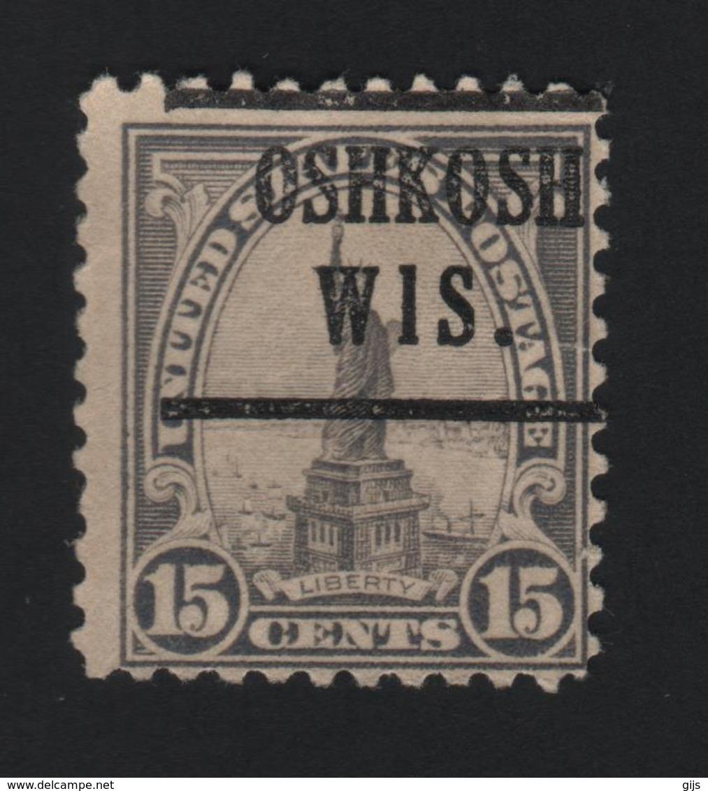 USA  755 SCOTT 566 OSHKOSH WIS - Prematasellado