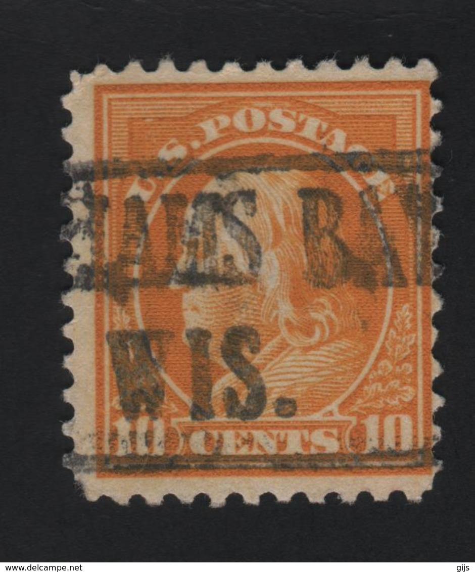 USA  762 SCOTT 510 BAYHAMS WIS - Prematasellado