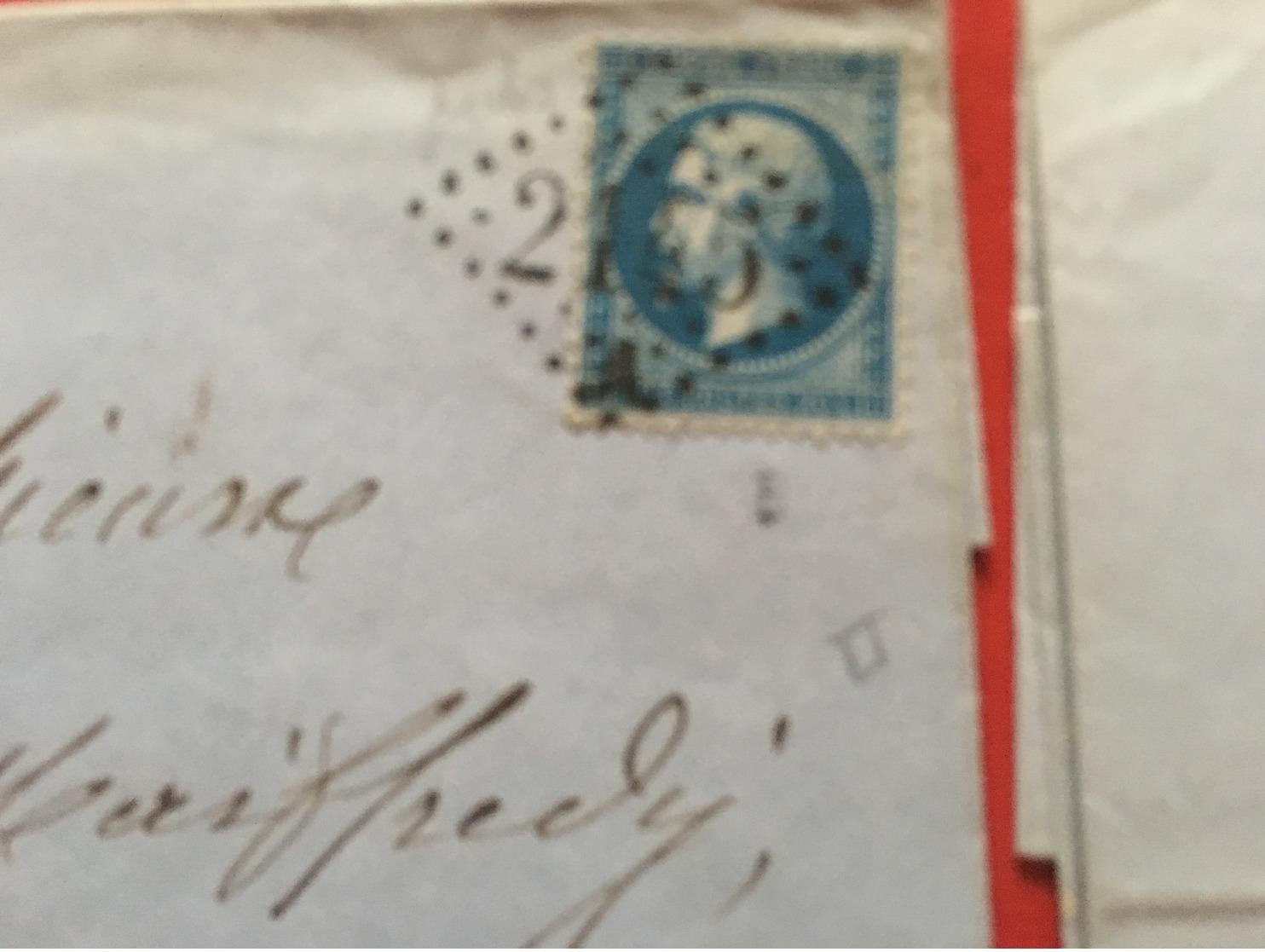 Lot De 4 Enveloppes Très Anciennes 1862/1871 Lot 215e - Andere