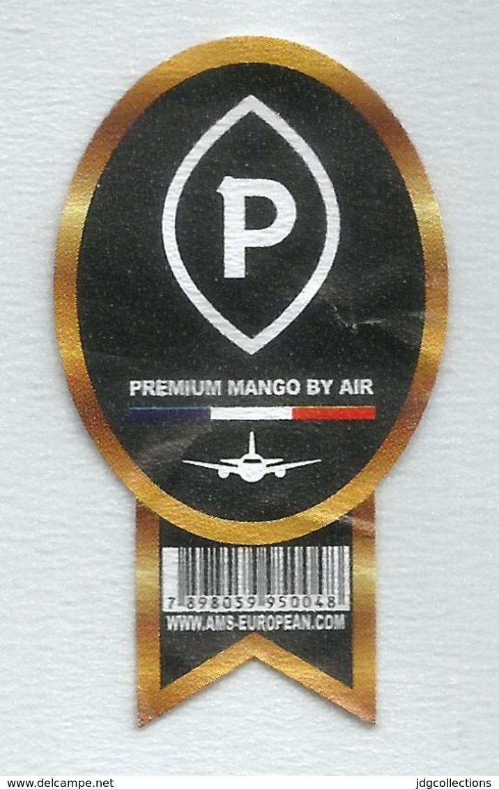 # MANGO PREMIUM BY AIR Fruit Label, Etichette Etiquettes Etiquetas Sticker Adhesive Par Avion Airplane Flight - Fruits & Vegetables