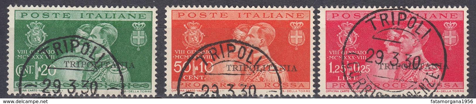 TRIPOLITANIA (colonia Italiana) - 1930 -  Serie Completa Usata: Yvert 84/86. - Tripolitania