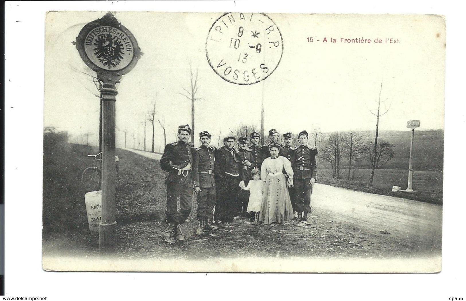 Thème DOUANE - DOUANIERS - VOSGES 1913 (beau Plan) - Aduana