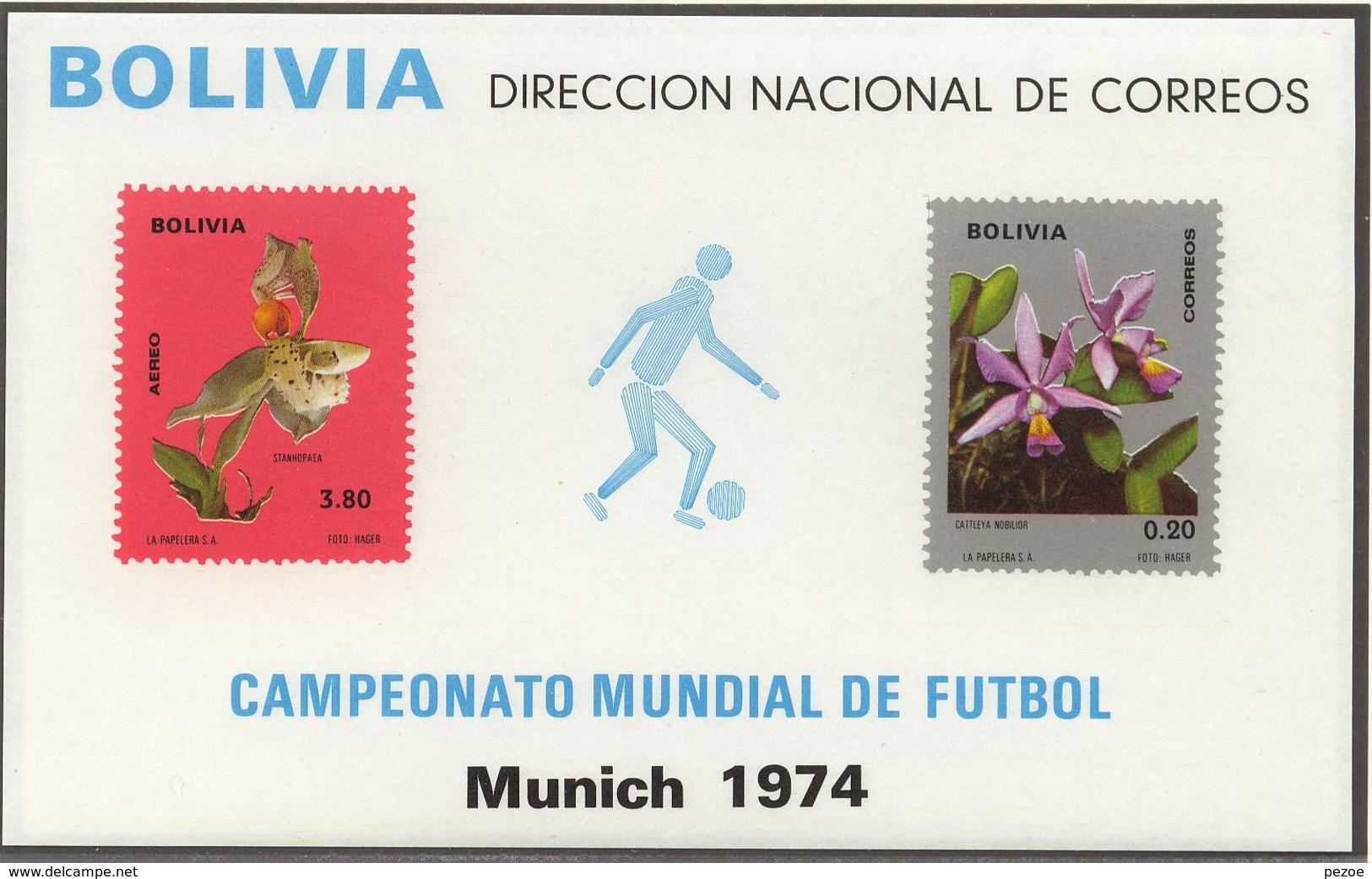 Football / Soccer / Fussball - WM 1974:  Bolivien  Bl ** - Fußball-Weltmeisterschaft