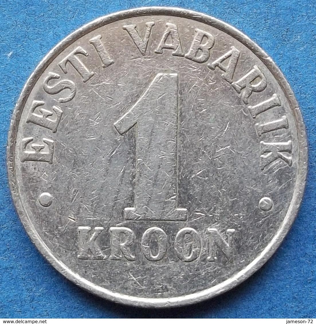 ESTONIA - 1 Kroon 1995 KM# 28 Kroon Coinage (1991- 2010) - Edelweiss Coins - Estonie