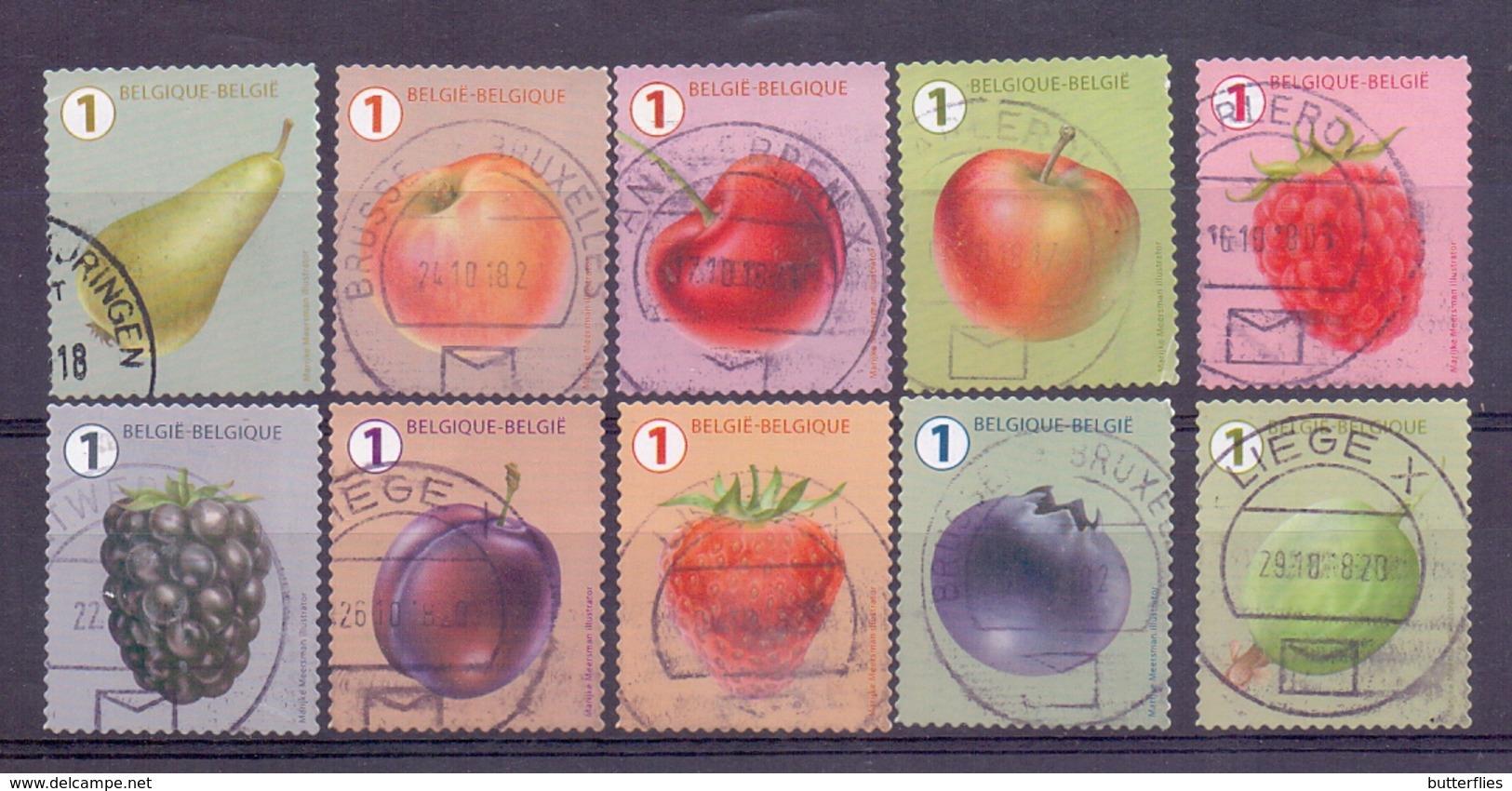 Belgie - 2018 - OBP -  Fruit - M.Meersman - Zonder Papierresten - Belgique