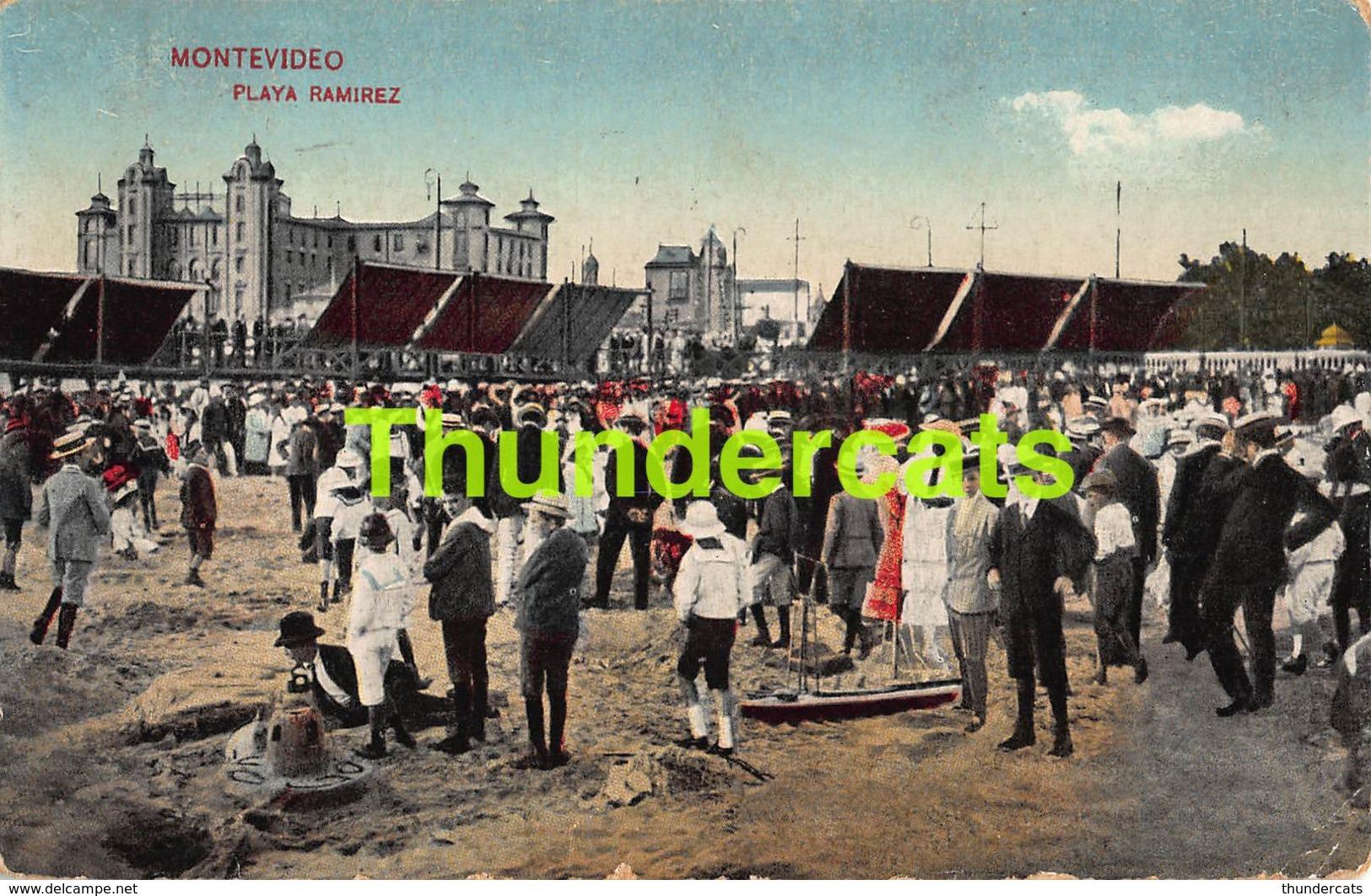 CPA MONTEVIDEO URUGUAY  PLAYA RAMIREZ - Uruguay
