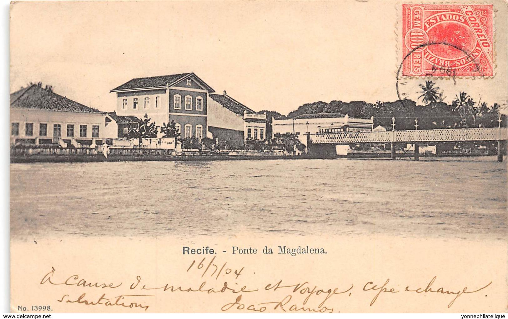 Brésil / Recife - 95 - Ponte Da Magdalena - Belle Oblitération - Recife