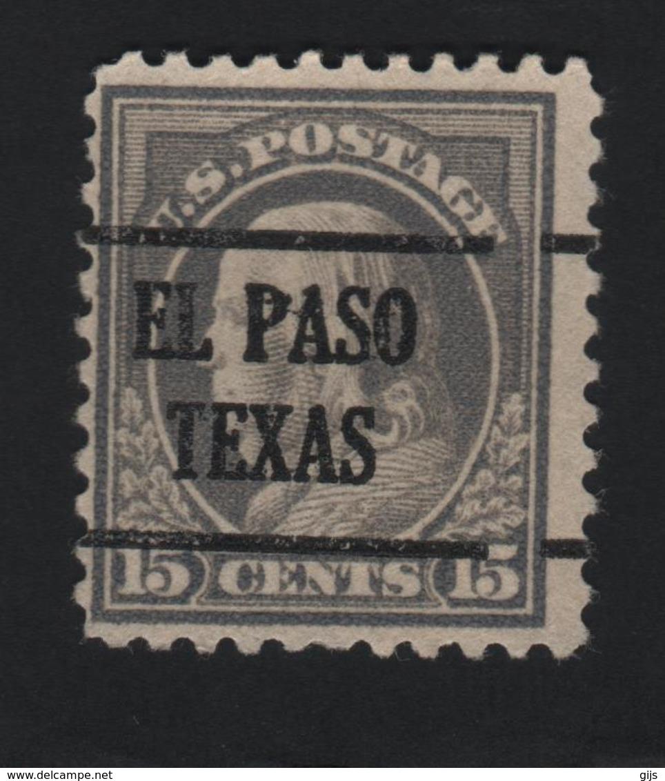 USA 715 SCOTT 514 EL PASO TEXAS - Prematasellado
