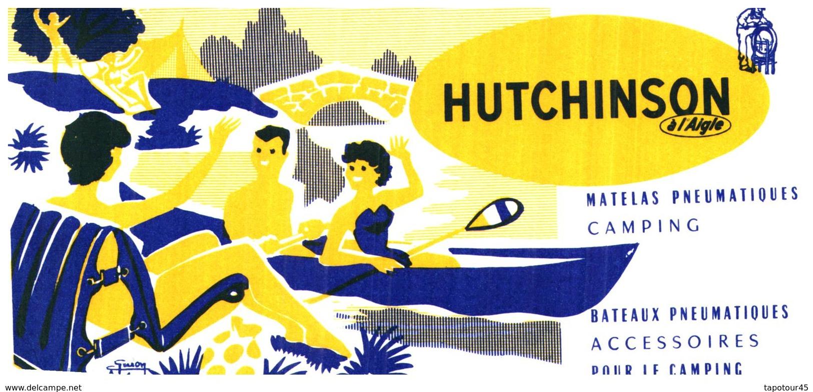 Co H/Buvard Camping Hutchinson (N= 2) - Buvards, Protège-cahiers Illustrés