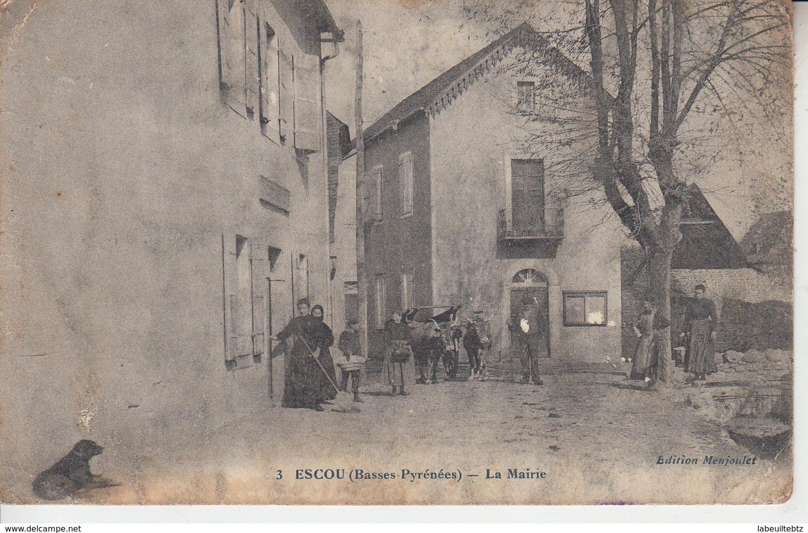 ESCOU ( Basses Pyrénées ) - La Mairie  ( ETAT )   PRIX FIXE - Frankrijk