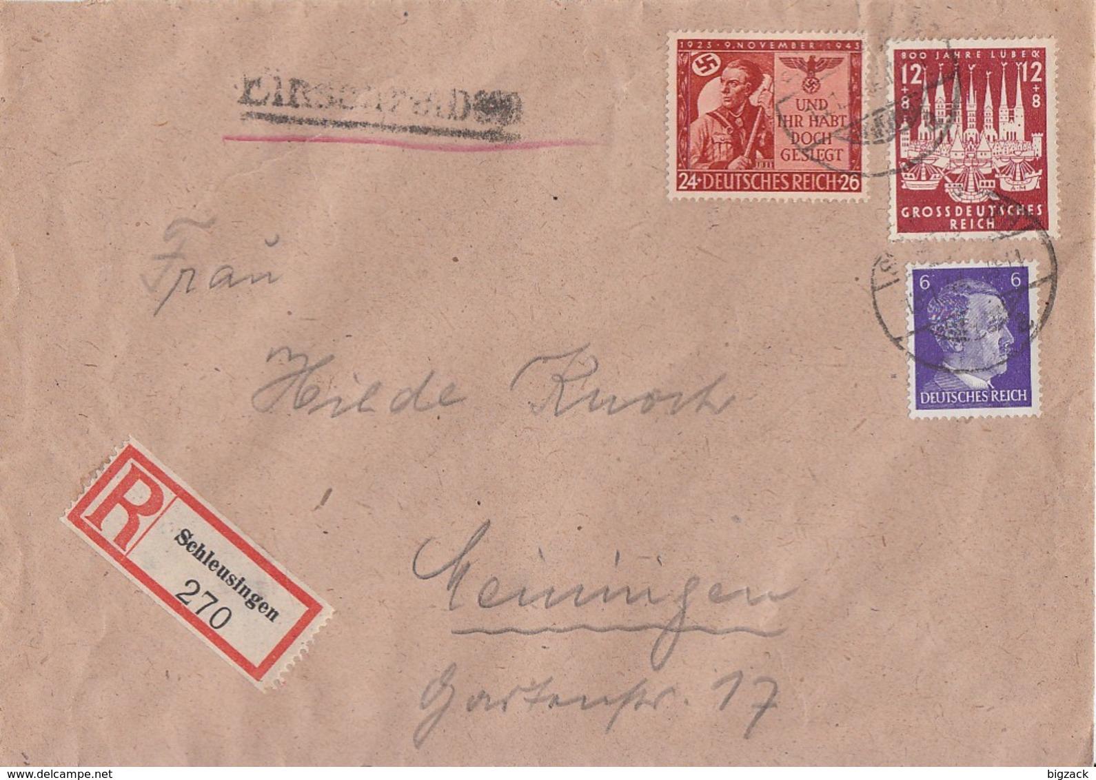 DR R-Brief Mif Minr.785,862,863 Schleusingen - Briefe U. Dokumente