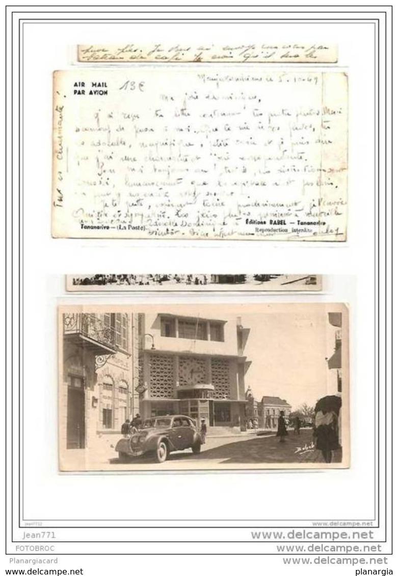 6288 AK/PC/CARTE PHOTO/1002//MADAGASCAR/TA NANARIVE/LA POSTE/1949 - Madagascar