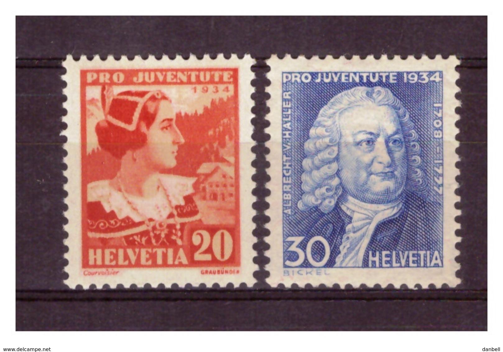 CH60) SVIZZERA 1934 -Pro Juventute - Unif 280-81 MNH** - Svizzera
