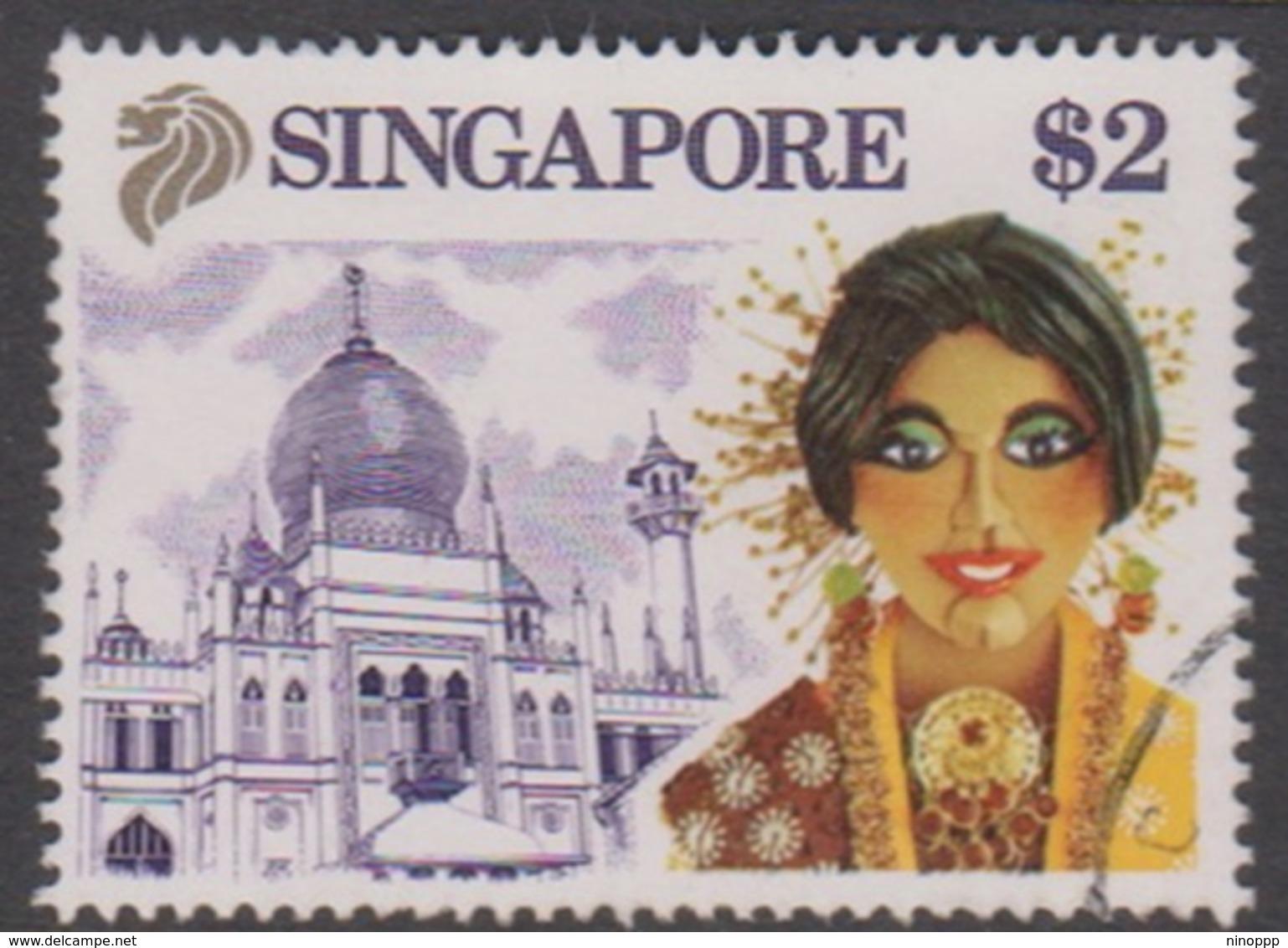 Singapore 638 1990 Tourism $ 2.00, Used - Singapore (1959-...)