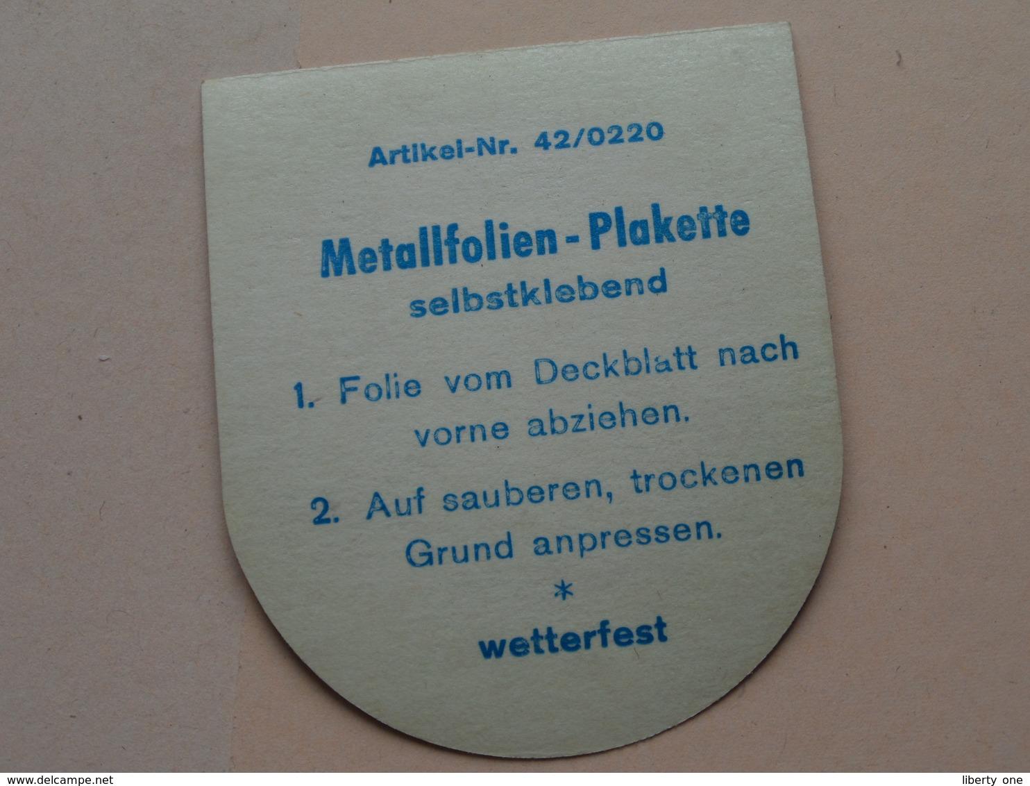 SKI - WM - 1978 / GARMISCH PARTENKIRCHEN ( Sticker / Selbstkleber : +/- 6,5 X 7,5 Cm.) See / Zie Foto Voor Detail ! - Apparel, Souvenirs & Other