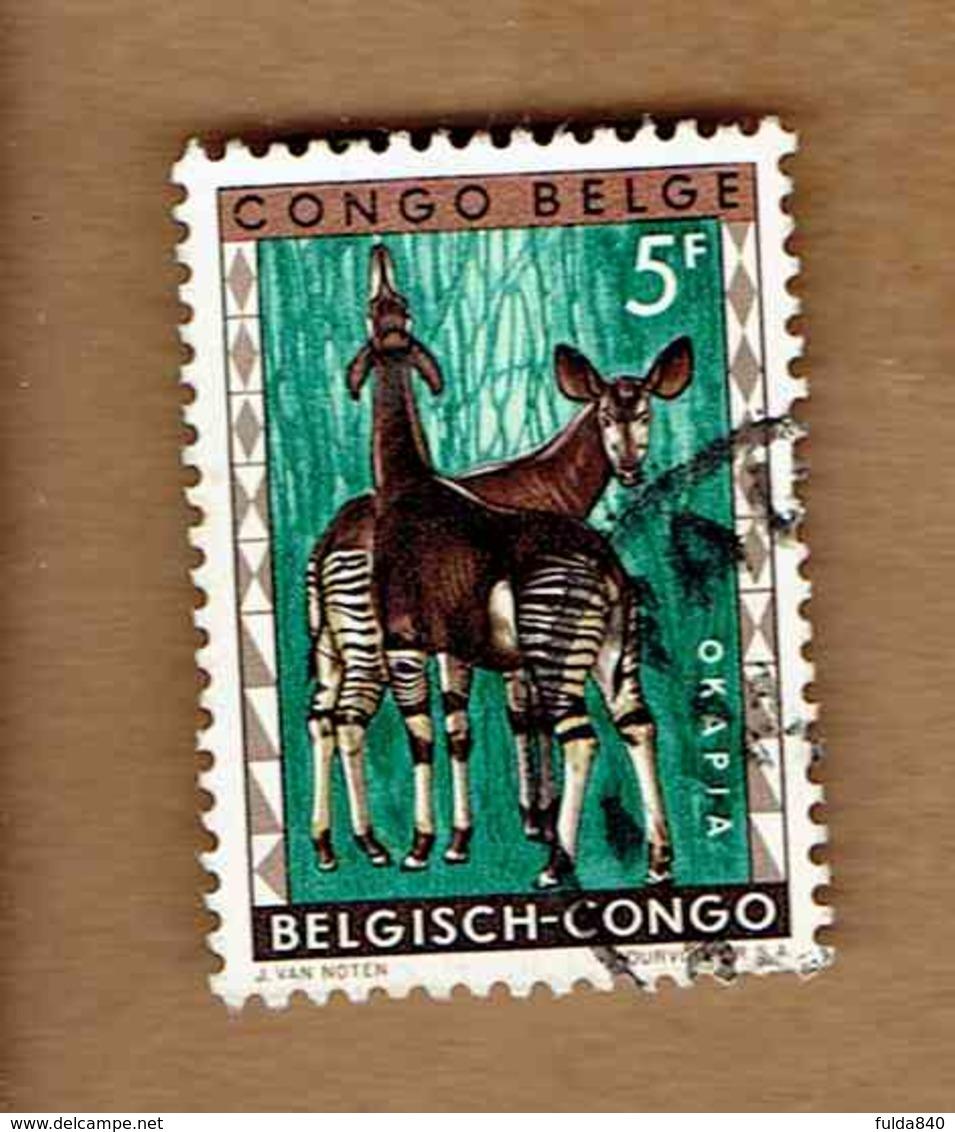 Congo Belge.(COB-OBP)  1959 - N°358    *FAUNE DU CONGO*     5F   Oblitéré - Congo Belge
