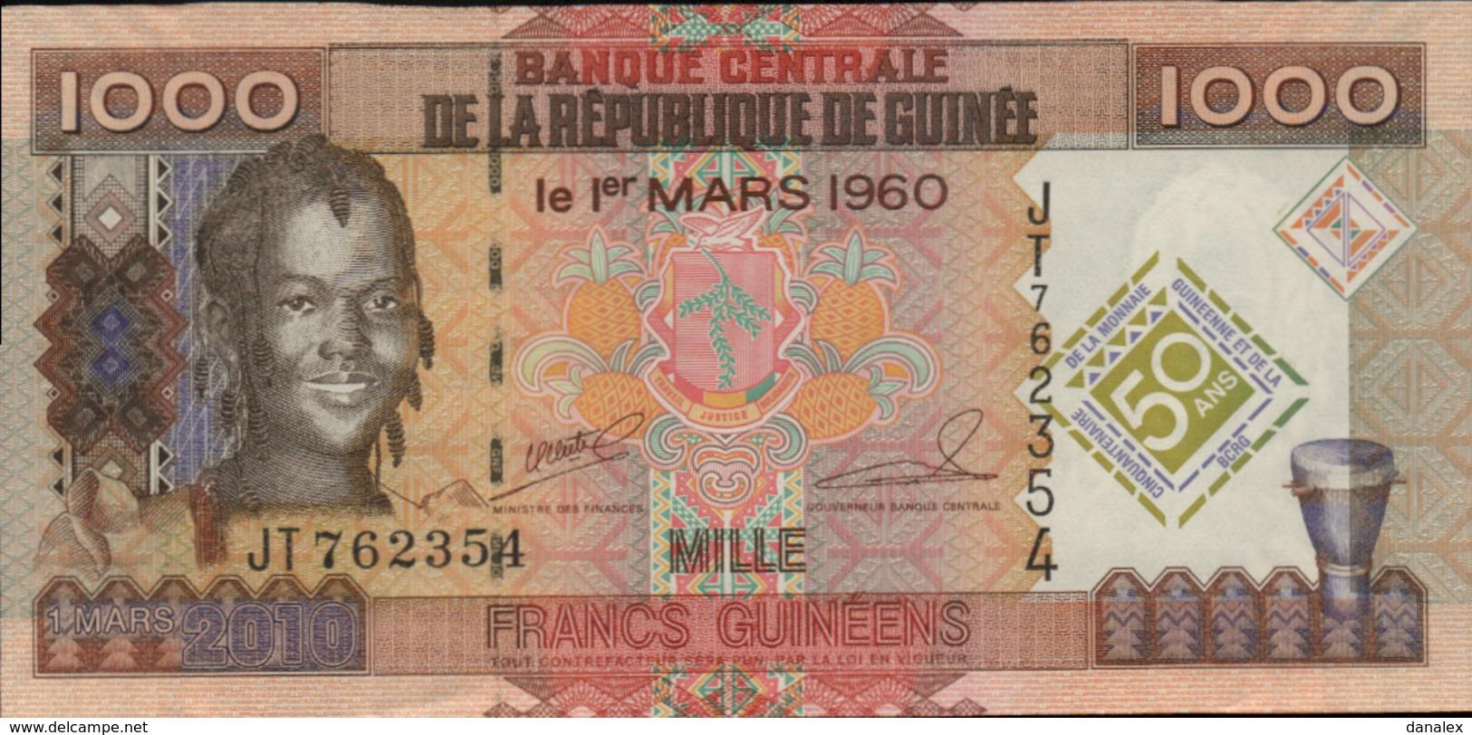 GUINEE 1000 FRANCS GUINEENS De 1-03-2010 PICK ? UNC/NEUF - Guinée
