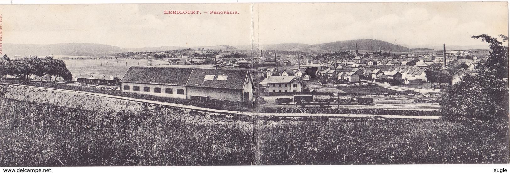 732/ Hericourt, Panorama, Dubbele Kaart - Francia