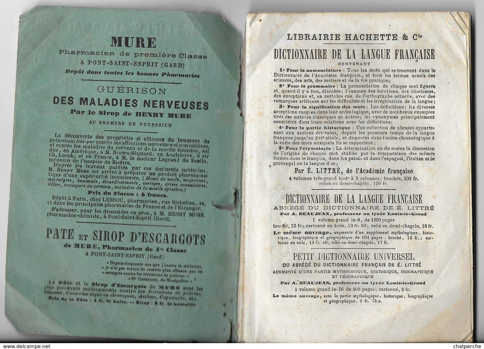 LE TRIPLE ALMANACH MATHIEU DE LA DROME INDICATEUR DU TEMPS POUR 1880 LIBRAIRIE PLON - Boeken, Tijdschriften, Stripverhalen