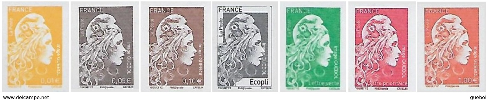 France Marianne L'Engagée N° 5xxx ** Les 7 Valeurs Non Dentelées - 2018-... Marianne L'Engagée