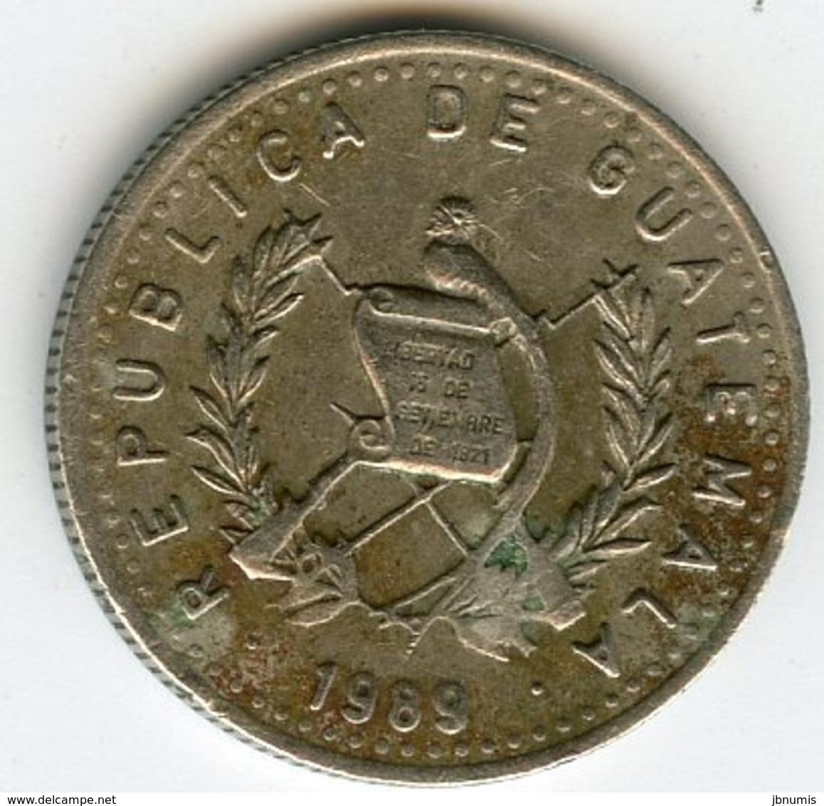 Guatemala 5 Centavos 1989 KM 276.4 - Guatemala